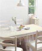 他の写真2: ガーリースタイルに合うダインニングテーブル WH【代引き不可】ロングタイプ