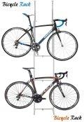 【送料無料】ツッパリ式自転車ラックSB-01/ホワイト【Bicycle rack】